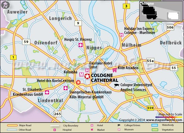 Cologne Cathedral Location Map