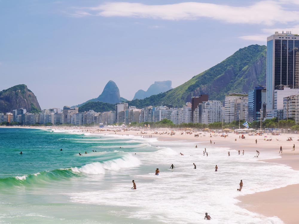 Copacabana Beach in Brazil