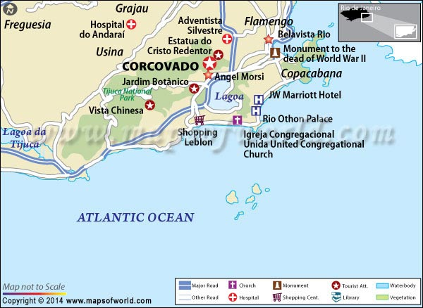 Location Map of Corcovado