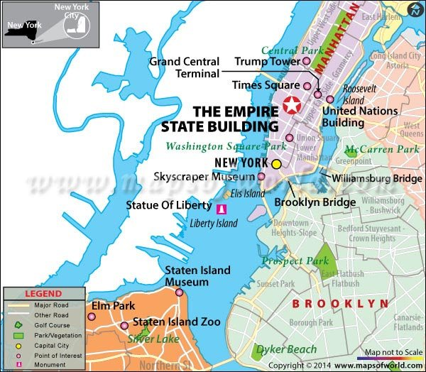 Location Map of Empire State Building
