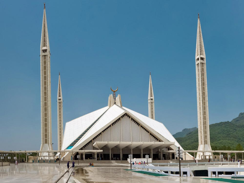 Faisal Mosque at Islamabad, Pakistan
