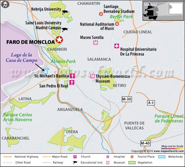 Faro De Moncloa Location Map