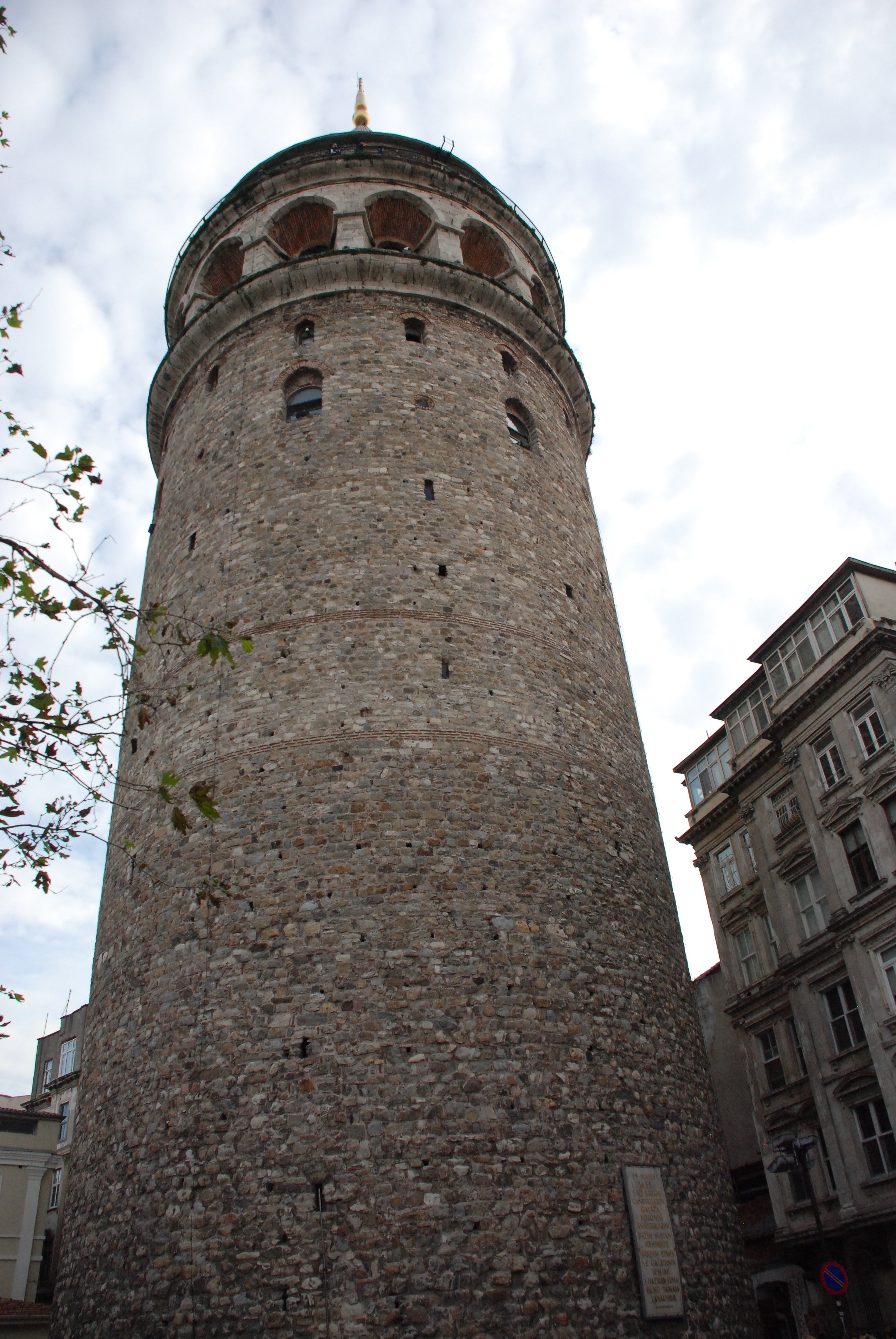 Close-up of Galata Tower