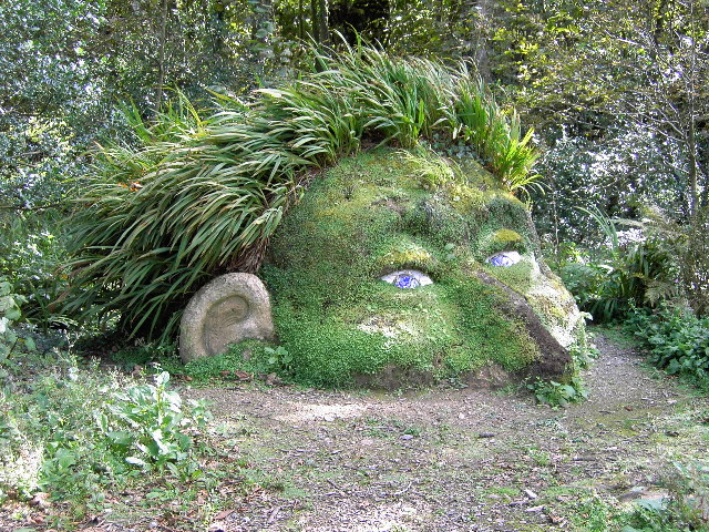 Giant's Head at the Lost Gardens of Heligan