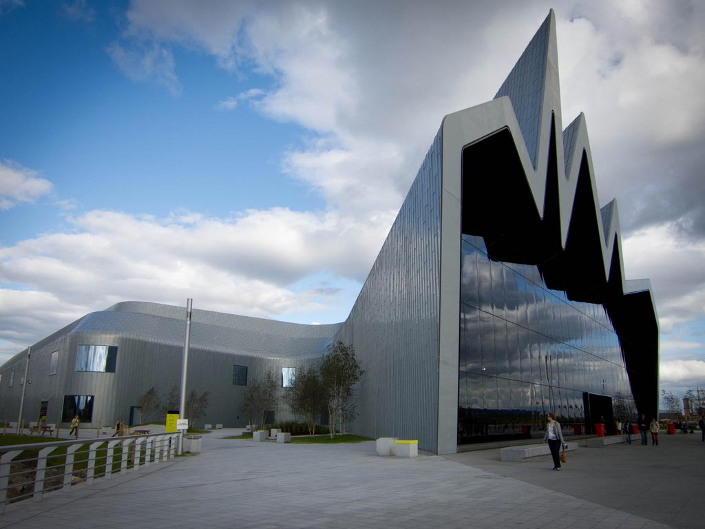 Riverside Museum at Glasgow, Scotland