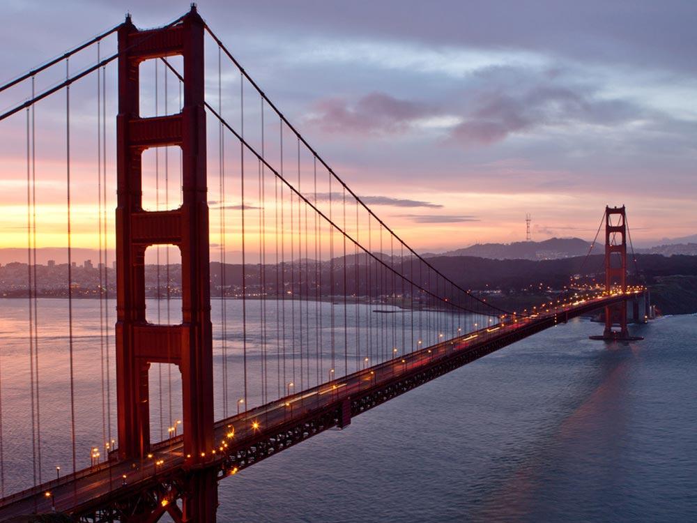 Golden Gate Bridge at San Francisco, California