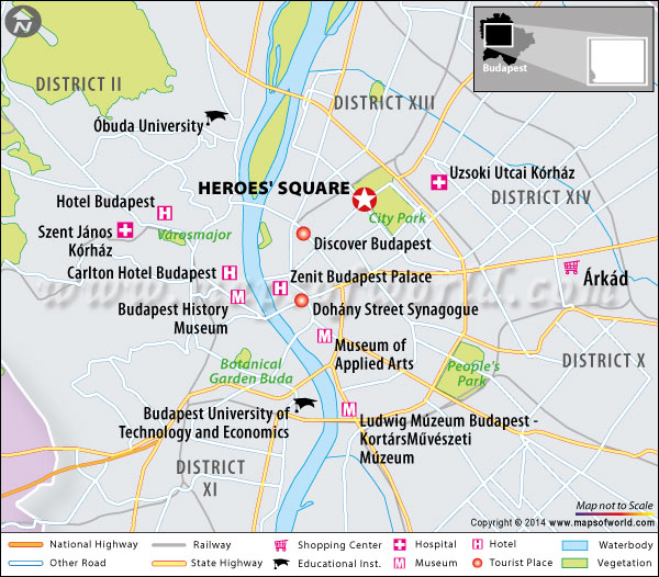 Location map of Heroes Square