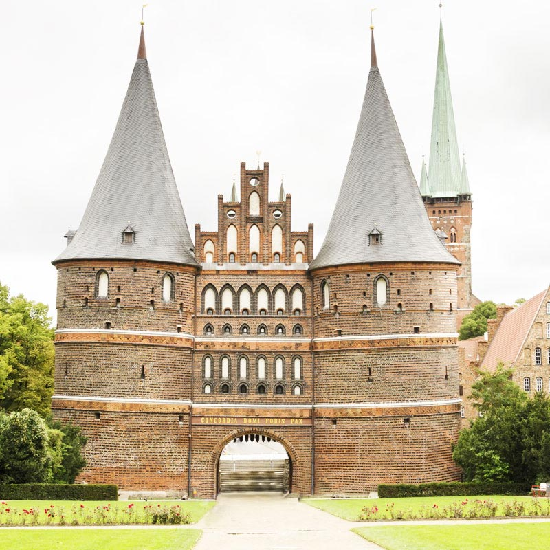 Holstentor Gate in Germany