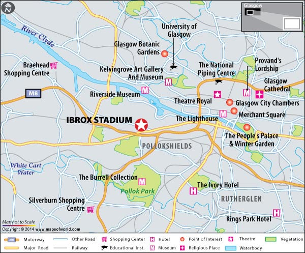 Ibrox Stadium Location Map