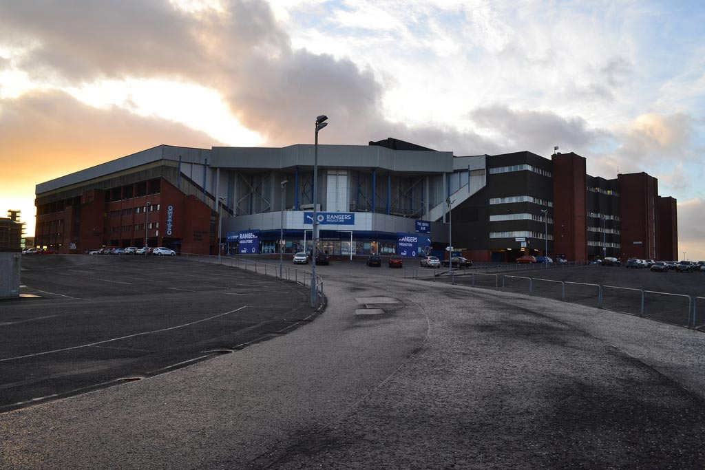 Ibrox Stadium in Glasgow
