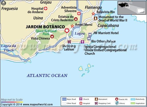 Location Map of Jardim Botanico