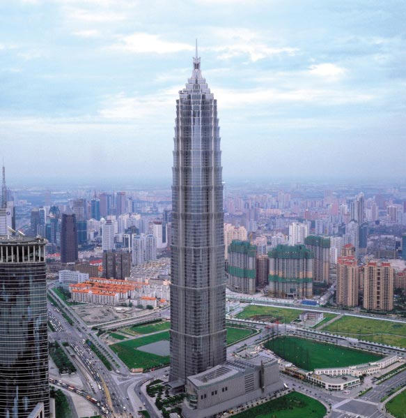 Jin Mao Tower in Shanghai, China