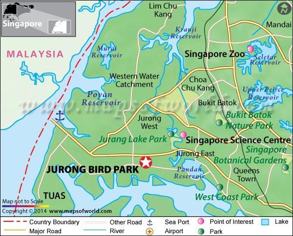 Jurong Bird Park Location Map