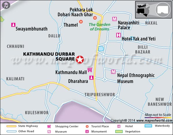Kathmandu Durbar Square Location Map