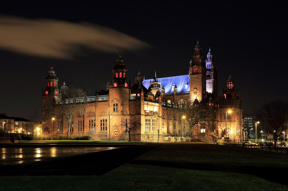 Kelvingrove Art Gallery and Museum at Glasgow , Scotland