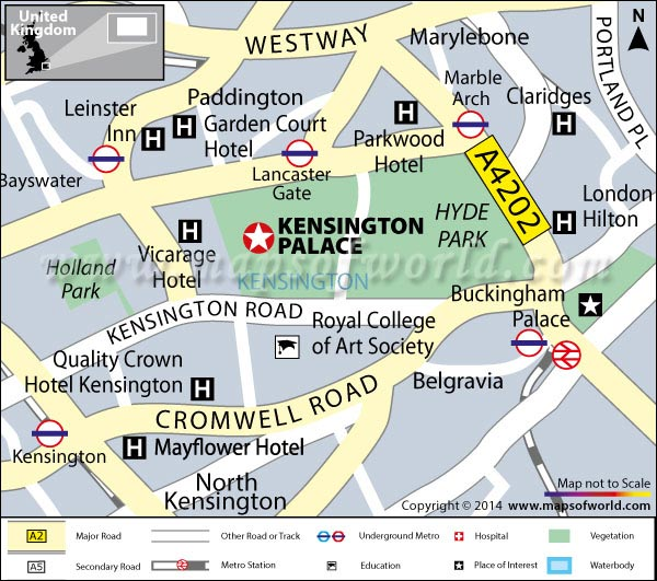 Kensington Palace Map