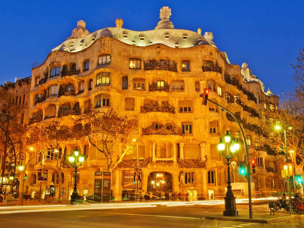 Casa Mila Building at Barcelona, Spain