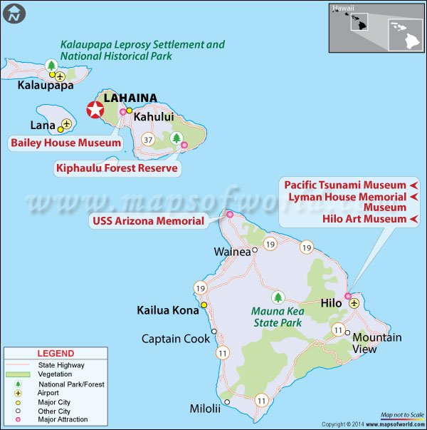 Location Map of Lahaina