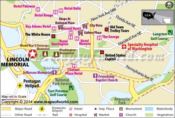 Lincoln Memorial Map