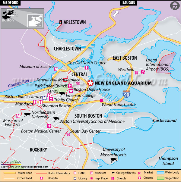 Location Map of New England Aquarium