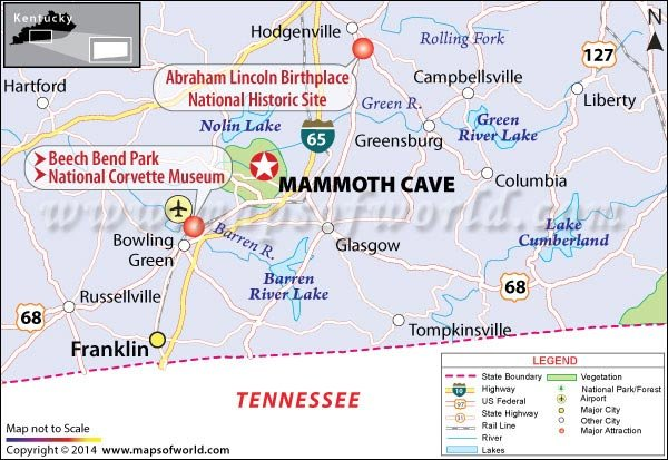 Kentucky On Usa Map.Mammoth Cave National Park Kentucky Usa Map Facts Best Time To