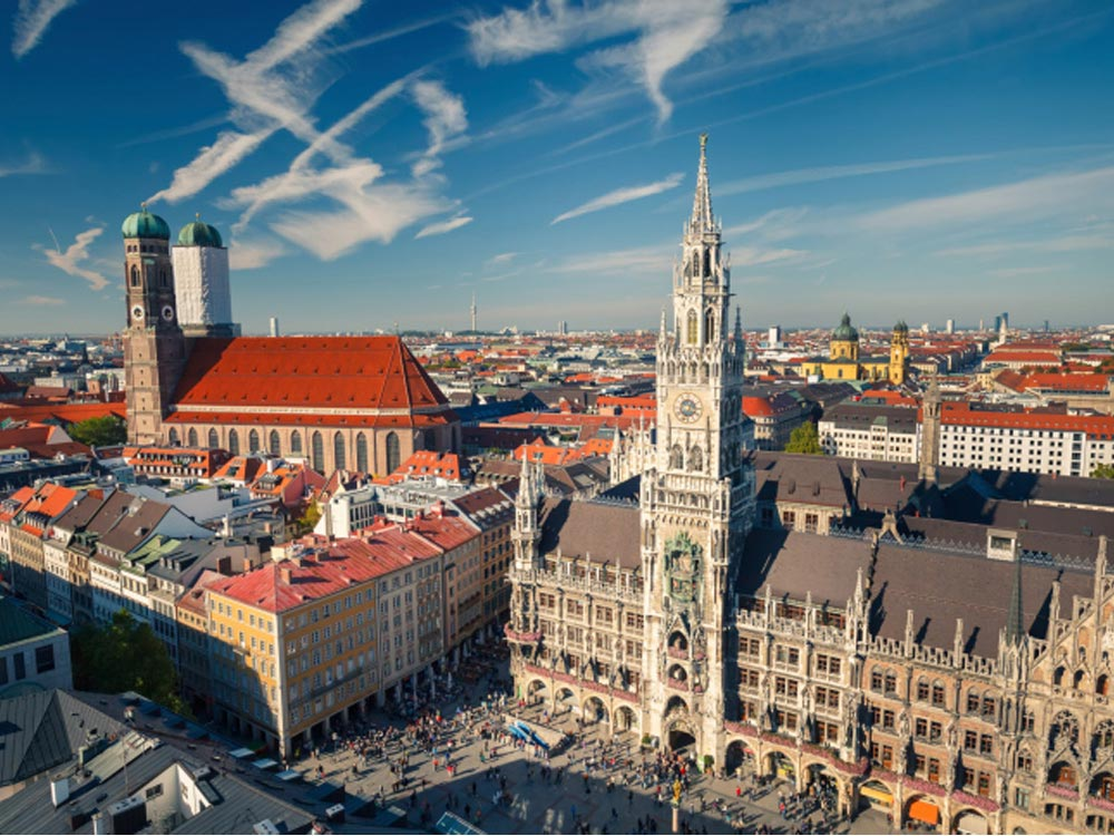 Marienplatz, a Square in Munich, Germany