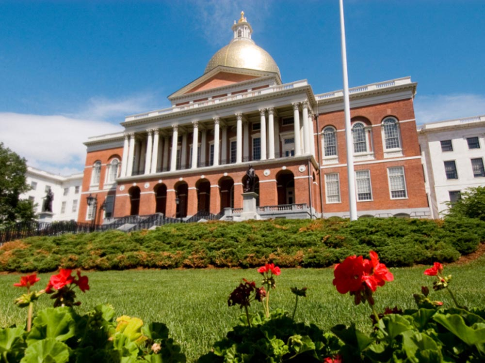 Mmassachusetts State House in Boston, USA