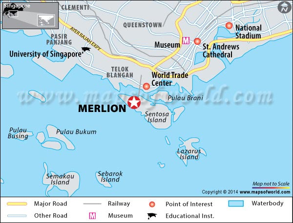 Merlion Location Map