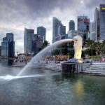 Merlion Statue at Singapore
