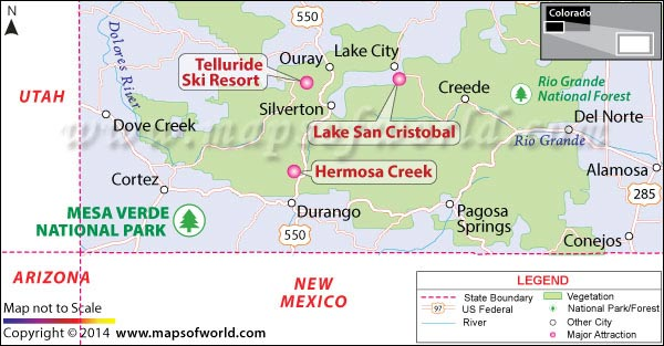 Mesa Verde National Park in Colorado - Map, Facts, Location ...