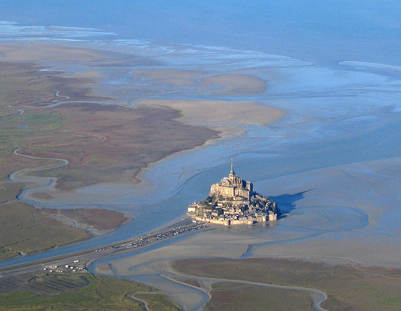 Mont Saint-Michel Island in France