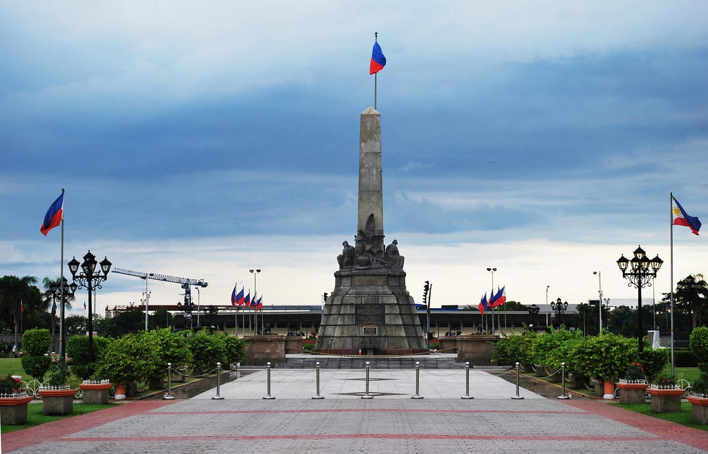 Rizal Monument at Rizal Park in Manilla, Philippines