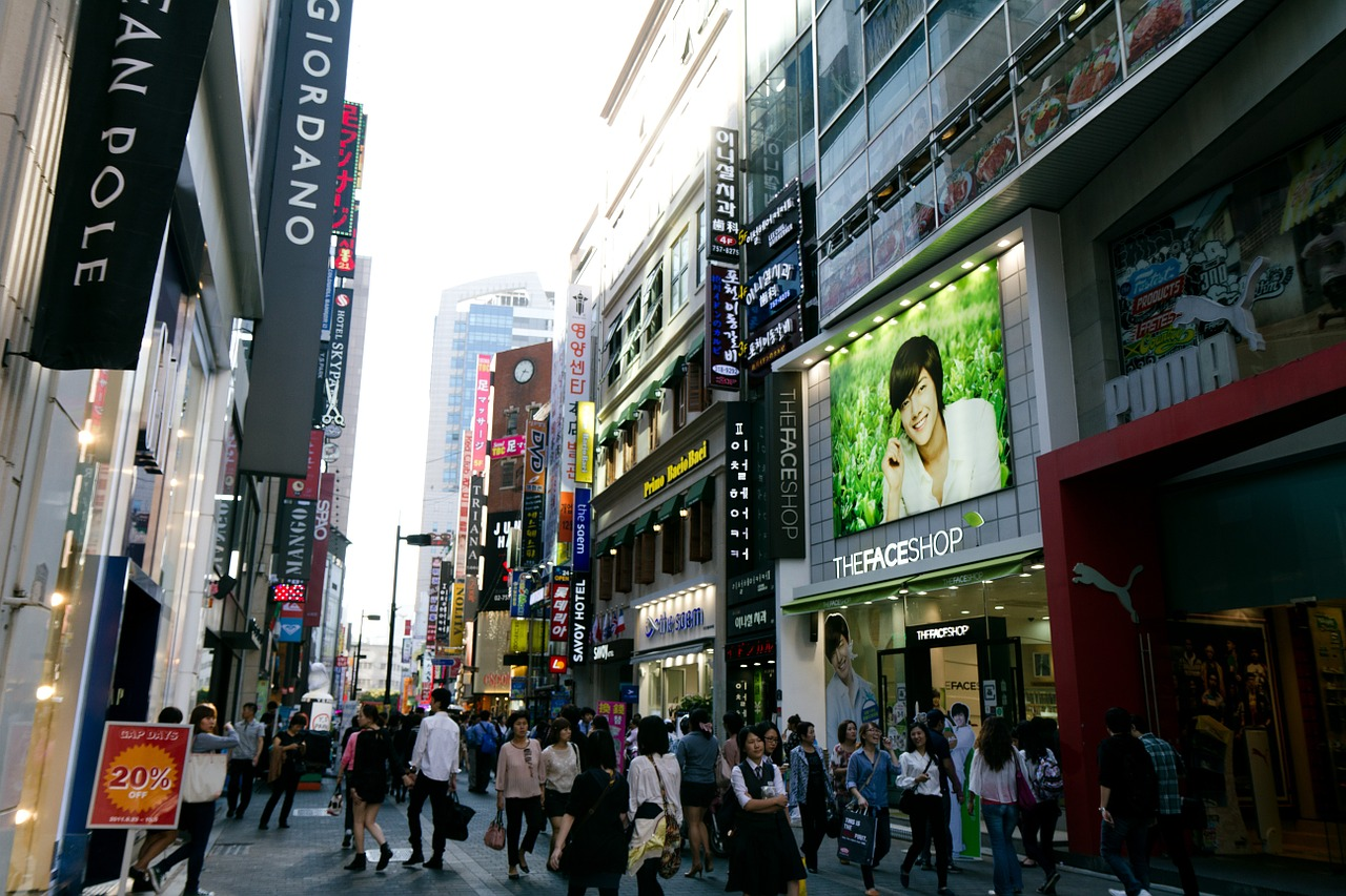 Shopping district of Myeongdong