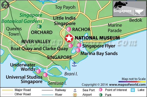 National Museum of Singapore Location Map