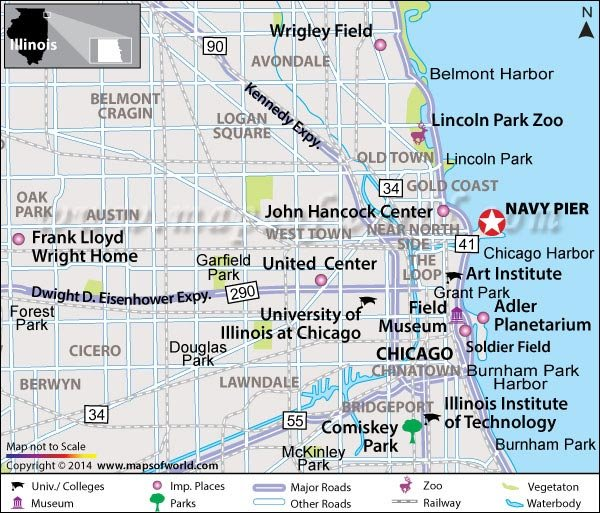 Navy Pier Chicago Illinois Map Location Facts Best