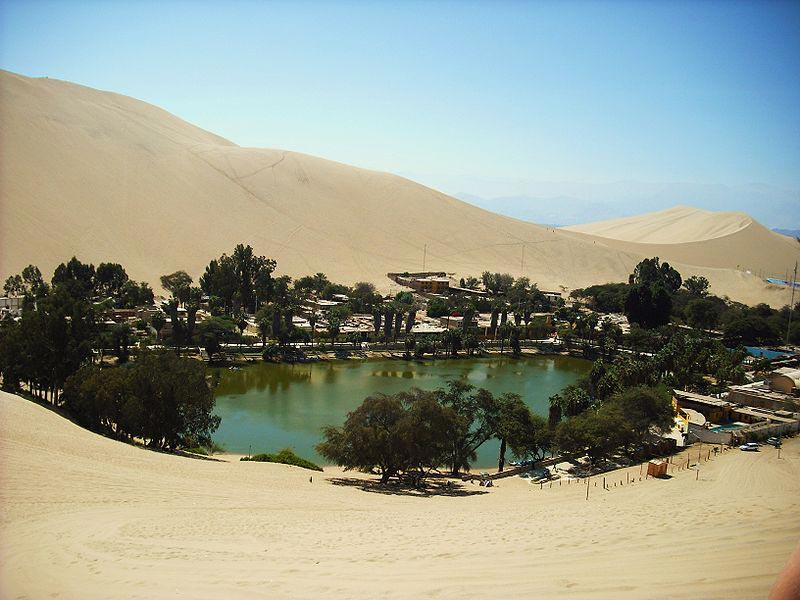 Oasis Town of Huacachina, Peru