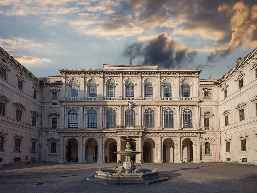 Palazzo Barberini or the National Gallery of Ancient Art in Barberini Palace at Rome, Italy