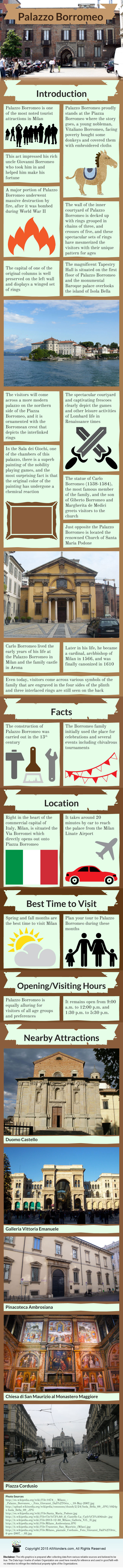 Palazzo Borromeo - Infographic