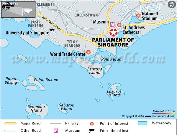 Parliament of Singapore Location Map