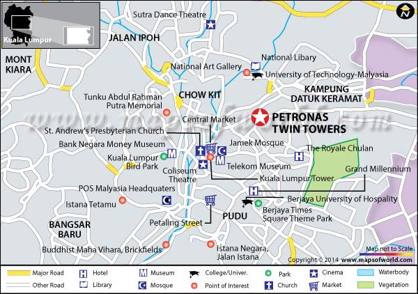 Location Map of Petronas Twin Tower