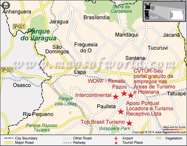 Location Map of Pico do Jaraguá