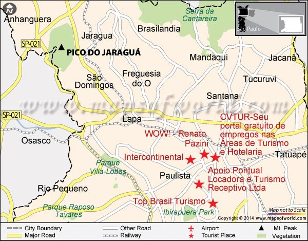 Location Map of Pico do Jaragua