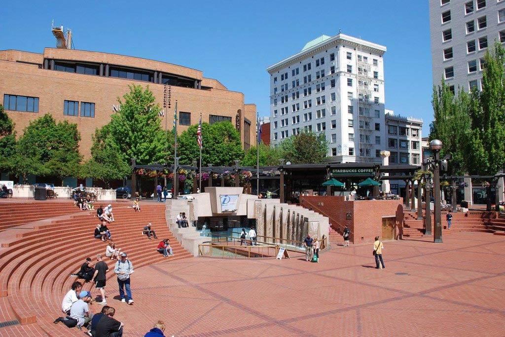 Pioneer Courthouse Square in Portland, Oregon