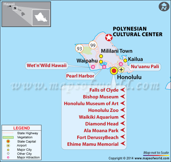 Location Map of Polynesian Cultural Center