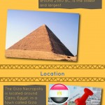 pyramids of giza Infographic, Egypt