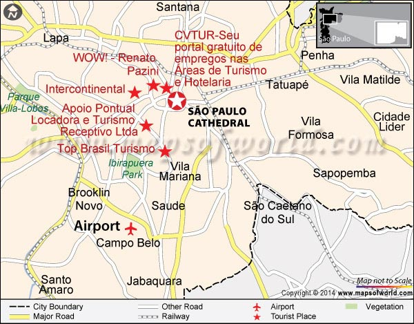 Location Map of São Paulo Cathedral