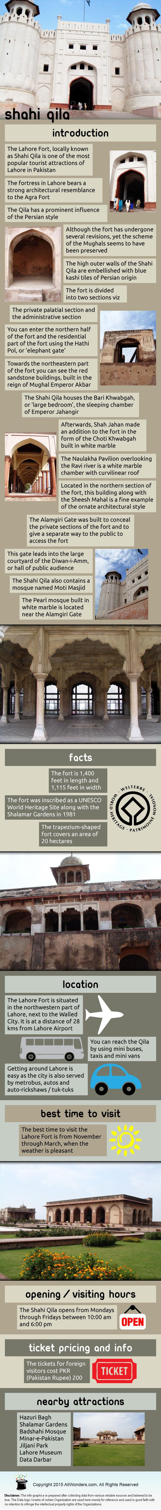 Shahi Qila Infographic