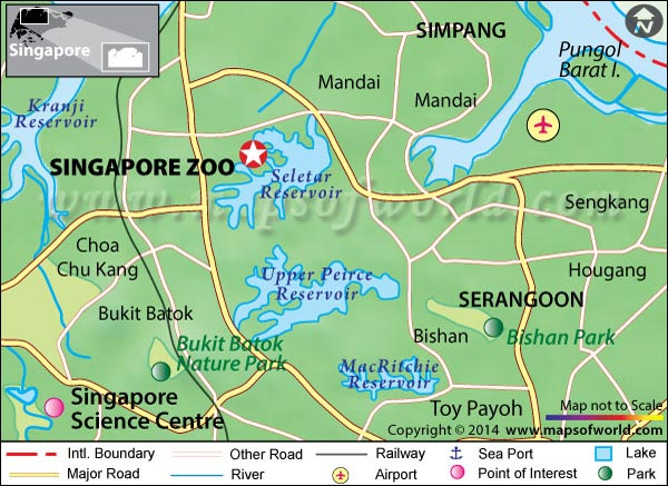 Singapore Zoo Location Map