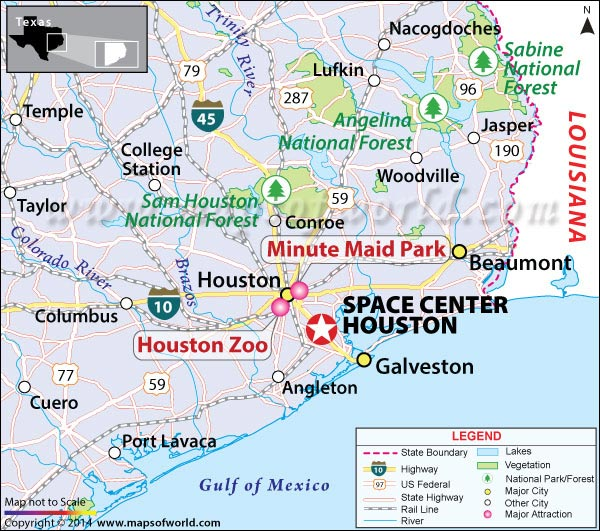 Space Center Houston Location Map