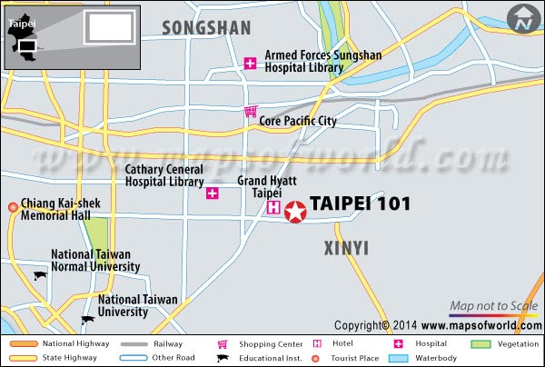 Location Map of Taipei 101